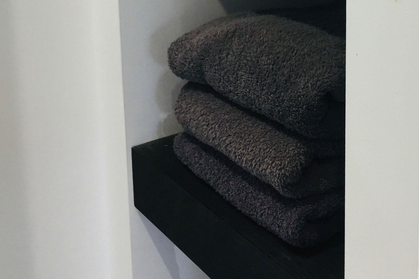 Sauna Handdoek Hema.Wanddampkappen Zwarte Handdoeken